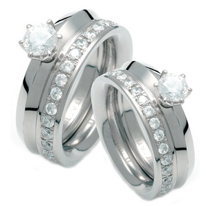 TW-972 CO - TATIAS, Titanium Couple Ring