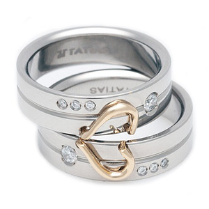 T-537 DIA CO - TATIAS, Titanium Couple Ring