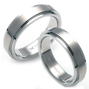 T-219 CO - TATIAS, Titanium Couple Ring