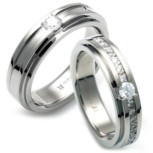 TW-980 TW-981 CO - TATIAS, Titanium Couple Ring