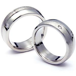 T-046D2 CE - TATIAS, Titanium Couple Ring