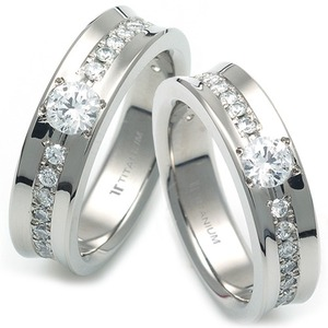 TW-983 DIA CO - TATIAS, Titanium Couple Ring