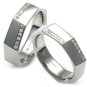 T-987 CO - TATIAS, Titanium Couple Ring