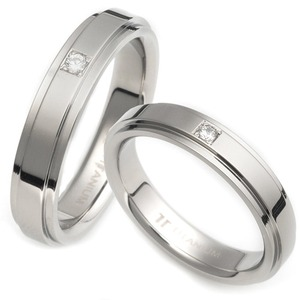 T-810 DIA CO - TATIAS, Titanium Couple Ring