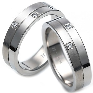 T-967 CO - TATIAS, Titanium Couple Ring