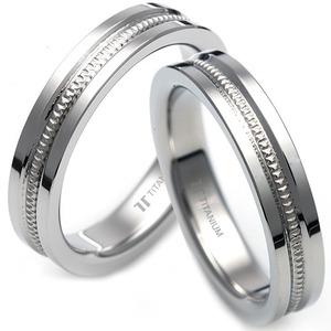 T-018 CO - TATIAS, Titanium Couple Ring