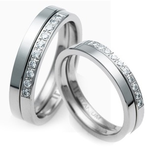 T-875 CO - TATIAS, Titanium Couple Ring