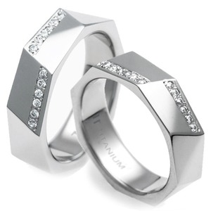 T-989 CO - TATIAS, Titanium Couple Ring