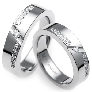 TW-281 CO - TATIAS, Titanium Couple Ring