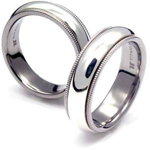 TS-036T CE - TATIAS, Titanium Couple Ring