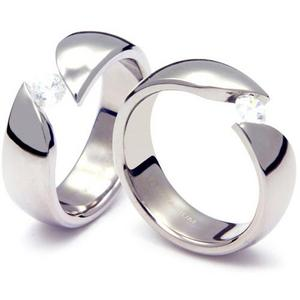 TQ-203 CE - TATIAS, Titanium Couple Ring