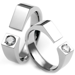 T-363 CO - TATIAS, Titanium Couple Ring