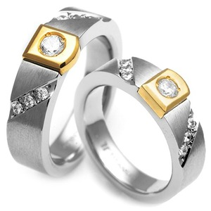 T-523 CO - TATIAS, Titanium Couple Ring