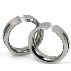 T-722 CE - TATIAS, Titanium Couple Ring