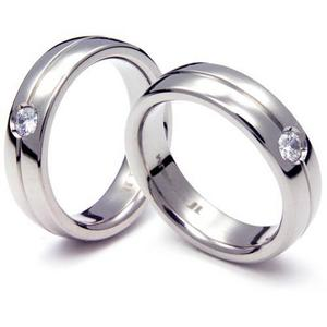 T-021D1 CO - TATIAS, Titanium Couple Ring