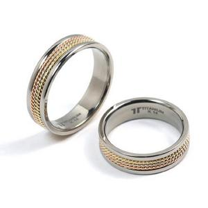 T-518 CO - TATIAS, Titanium Couple Ring