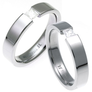 TQ-105 CO - TATIAS, Titanium Couple Ring