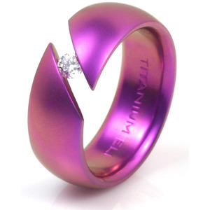 T-140 - TATIAS, Anodizing Colored Titanium Ring