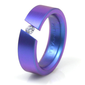 T-143 - TATIAS, Anodizing Colored Titanium Ring
