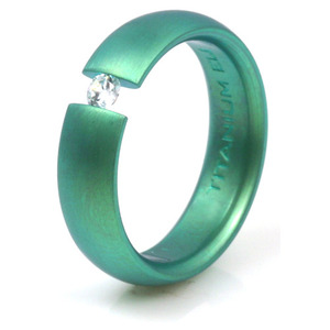 T-146 - TATIAS, Anodizing Colored Titanium Ring
