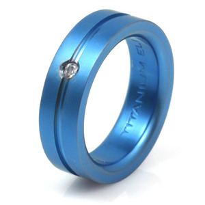 T-147 - TATIAS, Anodizing Colored Titanium Ring