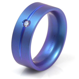 T-152 - TATIAS, Anodizing Colored Titanium Ring