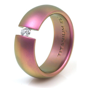 T-156 - TATIAS, Anodizing Colored Titanium Ring