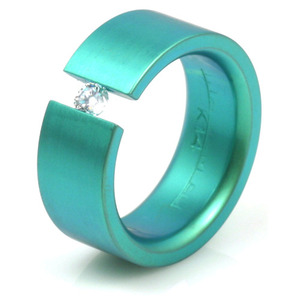 TQ-111 - TATIAS, Anodizing Colored Titanium Ring