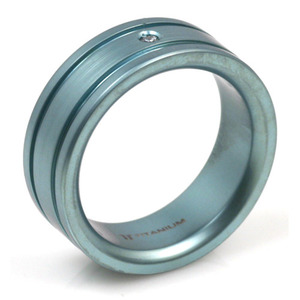 T-128 - TATIAS, Anodizing Colored Titanium Ring