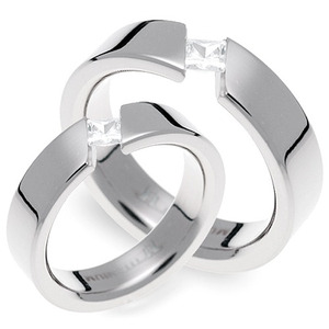 T-612 CO - TATIAS, Titanium Couple Ring