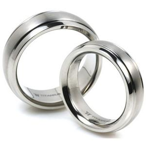 T-105 CE - TATIAS, Titanium Couple Ring