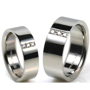 T-710 CO - TATIAS, Titanium Couple Ring