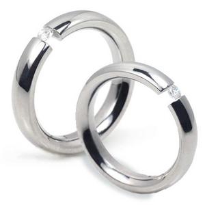 T-735 CO - TATIAS, Titanium Couple Ring