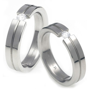 T-727 CO - TATIAS, Titanium Couple Ring