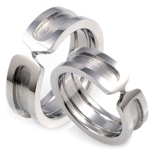 T-087 CO - TATIAS, Titanium Couple Ring