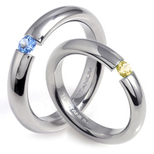 T-388 DIA CO - TATIAS, Titanium Couple Ring