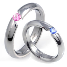 T-389 CO - TATIAS, Titanium Couple Ring