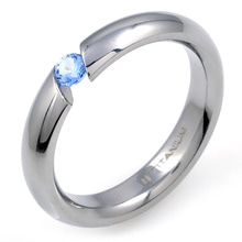 T-389 DIA - TATIAS, Titanium Ring set with Diamonds