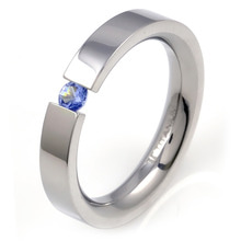 T-568 DIA - TATIAS, Titanium Ring with Diamond