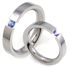 T-568 DIA CO - TATIAS, Titanium Couple Ring