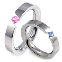 T-569 DIA CO - TATIAS, Titanium Couple Ring