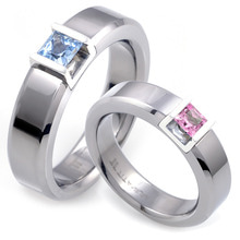 T-591 CO - TATIAS, Titanium Couple Ring