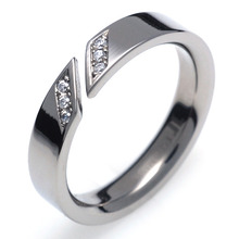 T-731 DIA - TATIAS, Titanium Ring with Diamond