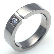 TW-737 DIA - TATIAS, Titanium Ring set with Diamonds