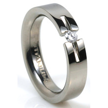 T-725 DIA - TATIAS, Titanium Ring with Diamond