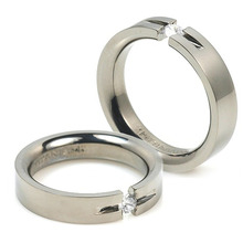 T-725 DIA CO - TATIAS, Titanium Couple Ring