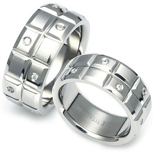 T-618 DIA CO - TATIAS, Titanium Couple Ring