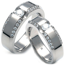 TW-058 CO - TATIAS, Titanium Couple Ring