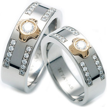 TW-633 DIA CO - TATIAS, Titanium Couple Ring