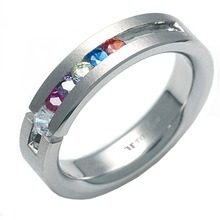 T-285 DIA - TATIAS, Titanium Ring with Diamond